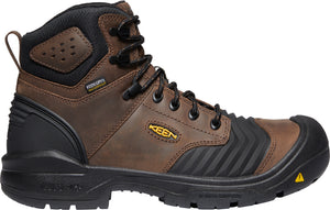 "'Keen' Men's 6"" Portland Bellows Flex WP Carbon Toe - Dark Earth / Black"