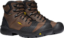 "'Keen Utility' Men's 6"" Portland Bellows Flex WP Carbon Toe - Dark Earth / Black"
