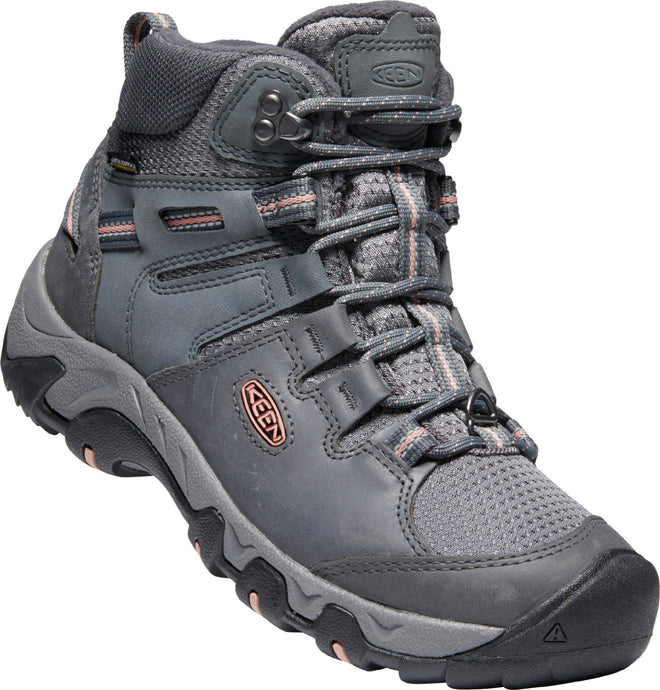 'Keen' Women's Steens Mid Polar WP Hiker - Steel Grey / Rose Dawn