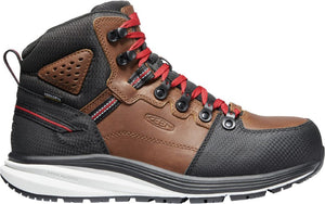 'Keen Utility' Men's Red Hook EH WP Comp Toe Hiker - Tobacco / Black
