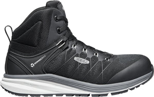 'Keen Utility' Men's Vista Energy EH Mid Hiker Carbon Toe - Vapor / Black