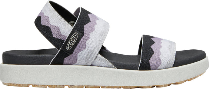 'Keen Outdoor' Women's Elle Backstrap Sandal - Black / Thistle