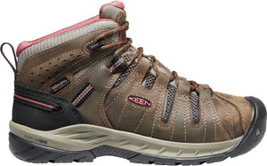'Keen Utility' Women's Flint II EH WP Mid Hiker - Cascade Brown / Brick Dust