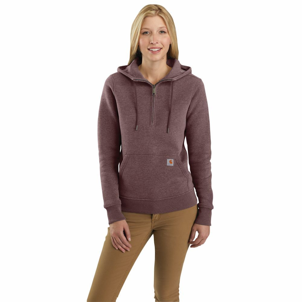 'Carhartt' Women's Clarksburg 1/2 Zip Sweatshirt - Raisin Heather