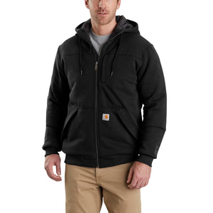 'Carhartt' Men's Rain Defender Rockland Quilt-Lined Full-Zip Hoodie - Black