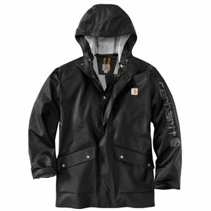 'Carhartt' Men's Midweight Waterproof Rainstorm Jacket - Black
