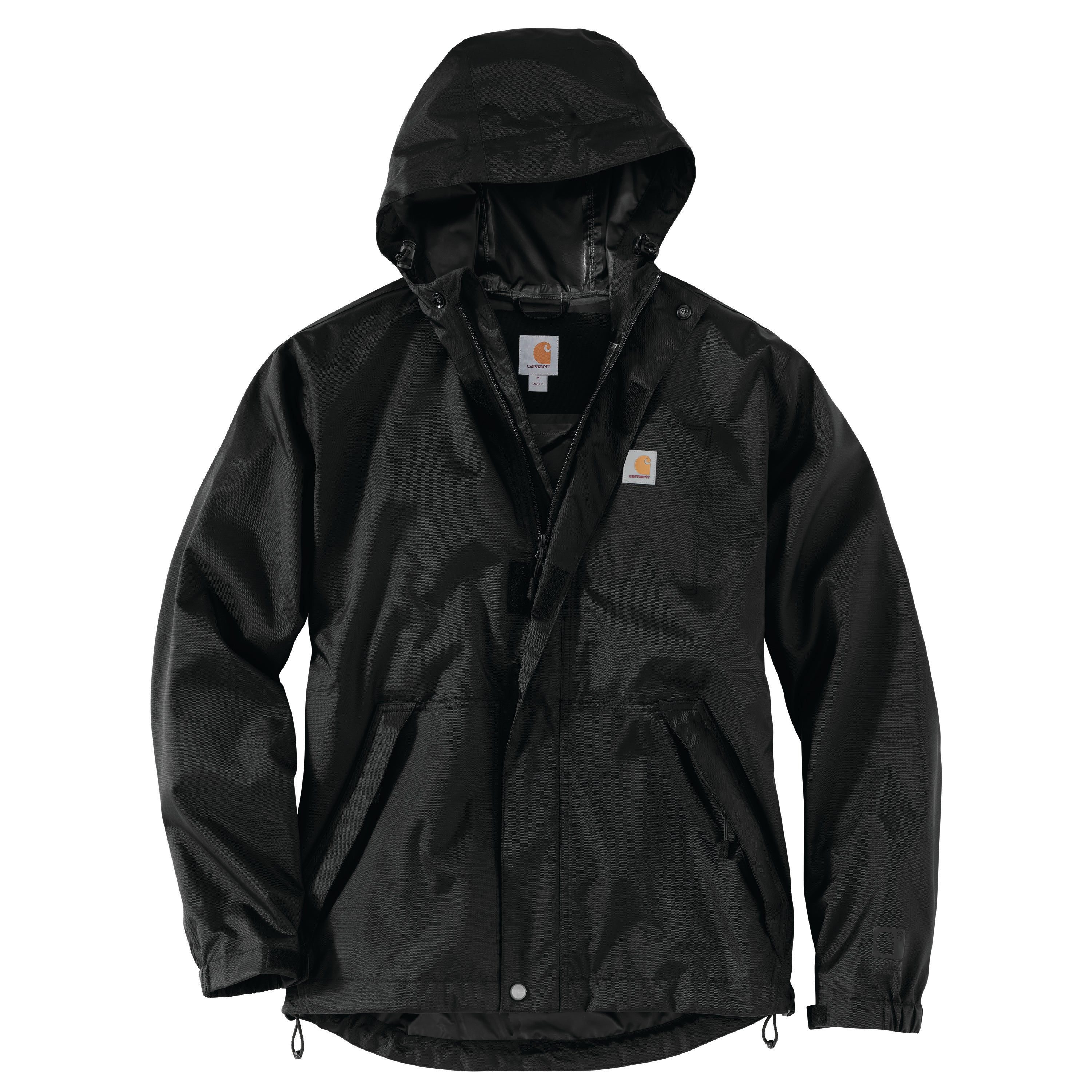 'Carhartt' Men's Dry Harbor WP Hooded Jacket - Black
