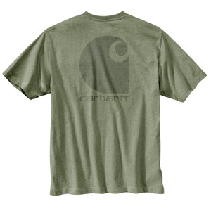 'Carhartt' Men's Midweight Logo Graphic Pocket T-Shirt - Oil Green Heather