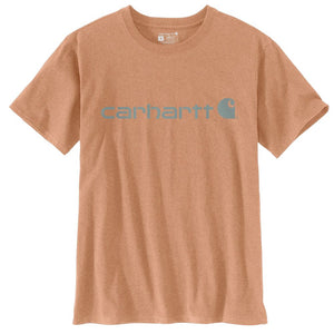'Carhartt' Women's Sleeve Logo T-Shirt - Ginger Heather