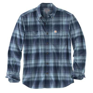 'Carhartt' 103820 412 - Men's LS Hamilton Plaid Flannel Button Down - Navy