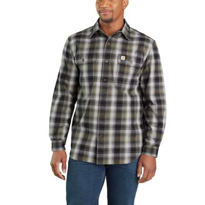 'Carhartt' 103822 001 - Men's LS Hubbard Flannel Button Down - Black