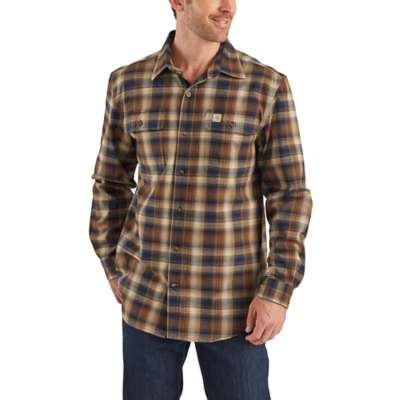 'Carhartt' 103822 412 - Men's LS Hubbard Flannel Button Down - Navy