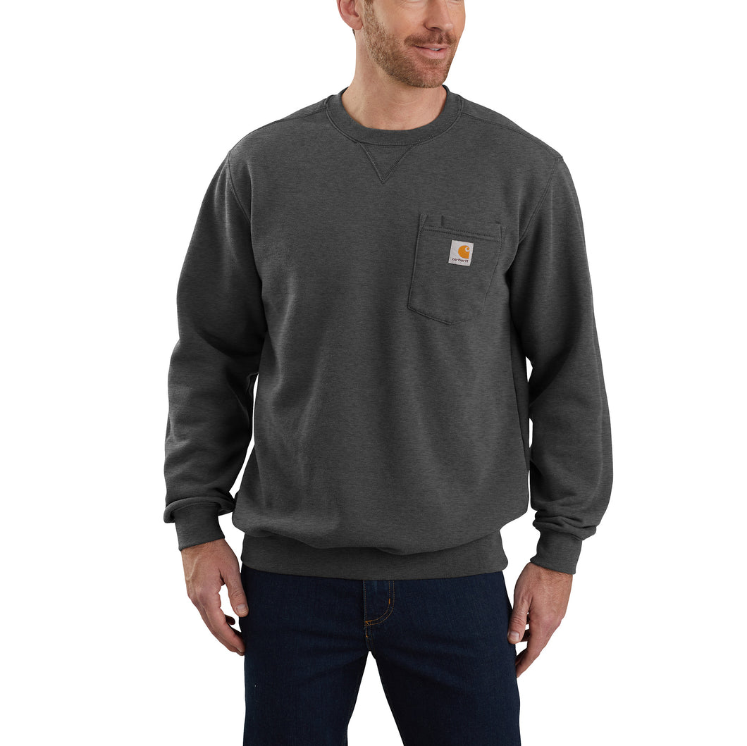 'Carhartt' Men's Crewneck Pocket Sweatshirt - Carbon Heather