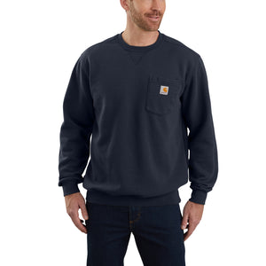'Carhartt' Men's Crewneck Pocket Sweatshirt - New Navy