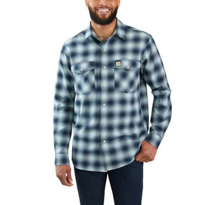 'Carhartt' 103855 973 - Men's LS Hamilton Plaid Snap - Twilight