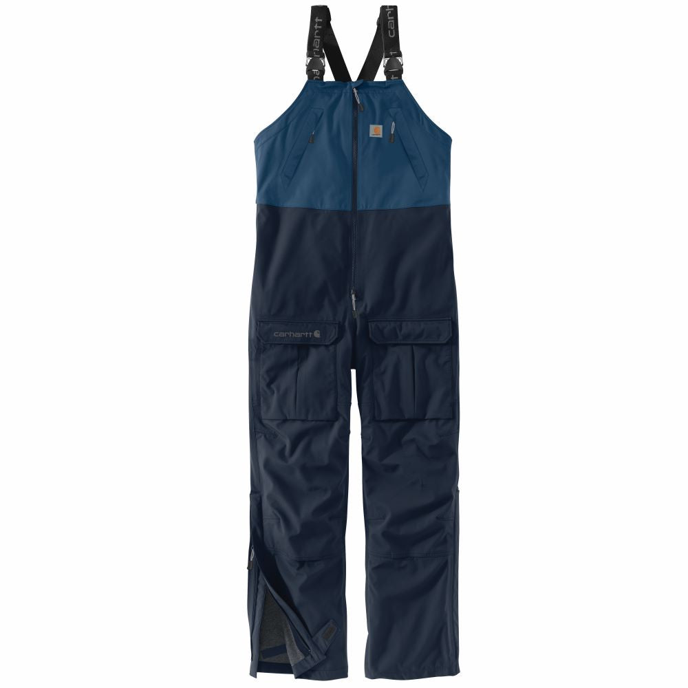 'Carhartt' Men's Storm Defender Force Midweight Bib Overall - Dark Blue / Navy
