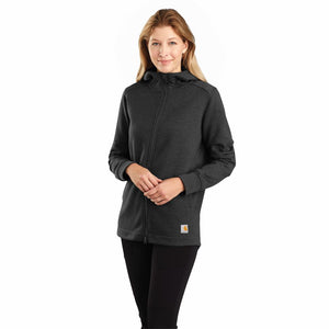 'Carhartt' Women's Rain Defender Full Zip Tunic - Carbon Heather
