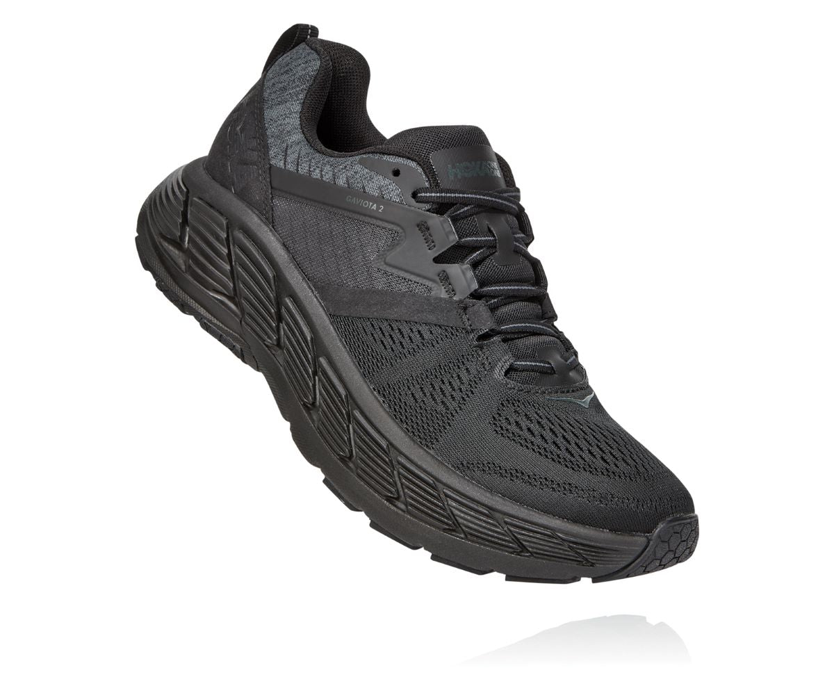 'HOKA' Men's Gaviota 2 - Black / Dark Shadow