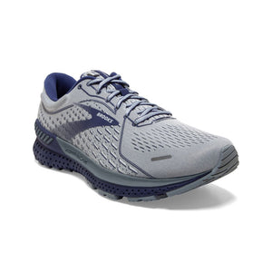 'Brooks' Men's Adrenaline GTS 21 - Grey / Tradewinds / Deep Cobalt