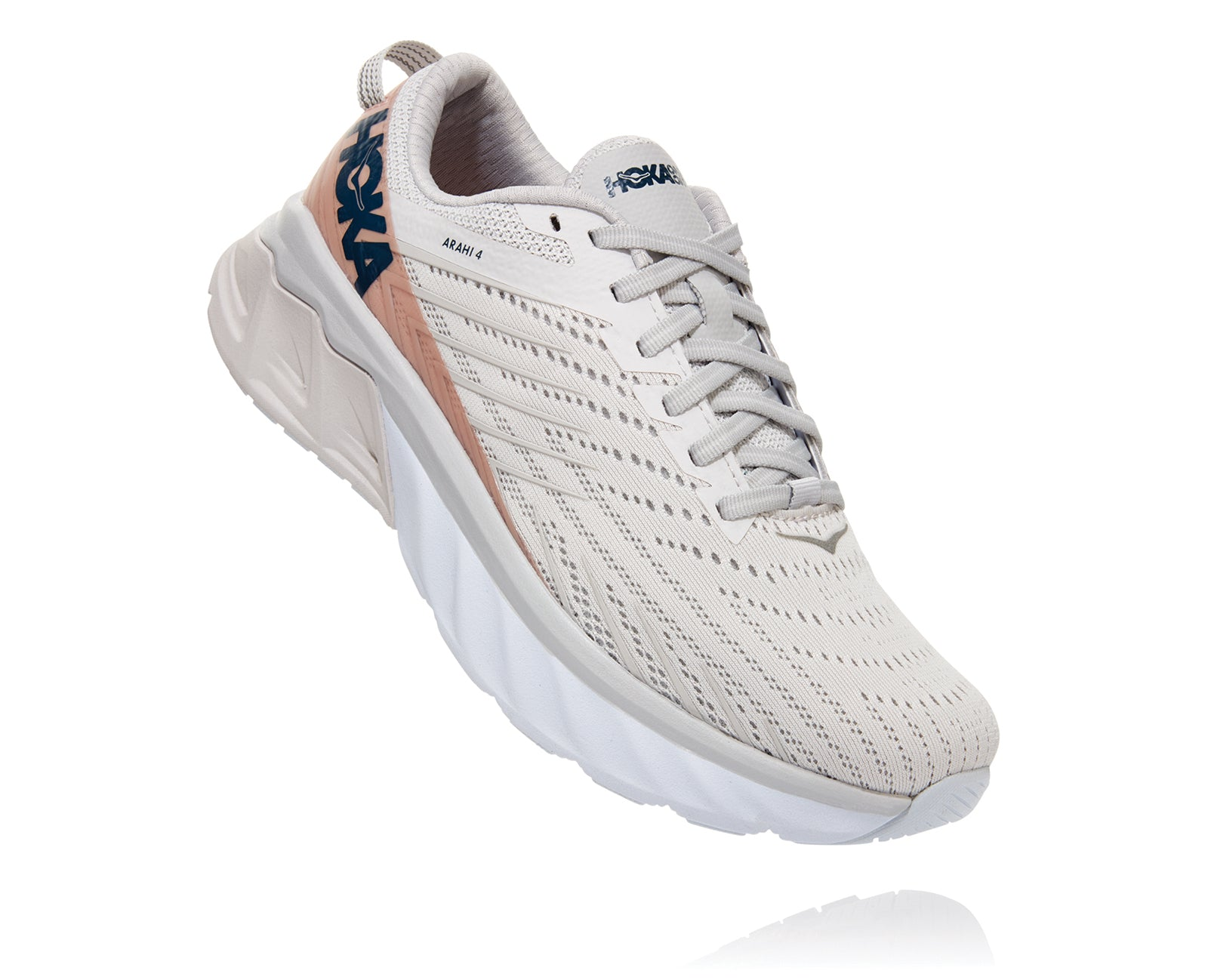 'HOKA' Women's Arahi 4 - Nimbus Cloud / Lunar Rock