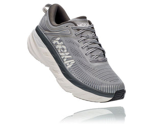 'HOKA' Men's Bondi 7 - Wild Dove / Dark Shadow (Wide)
