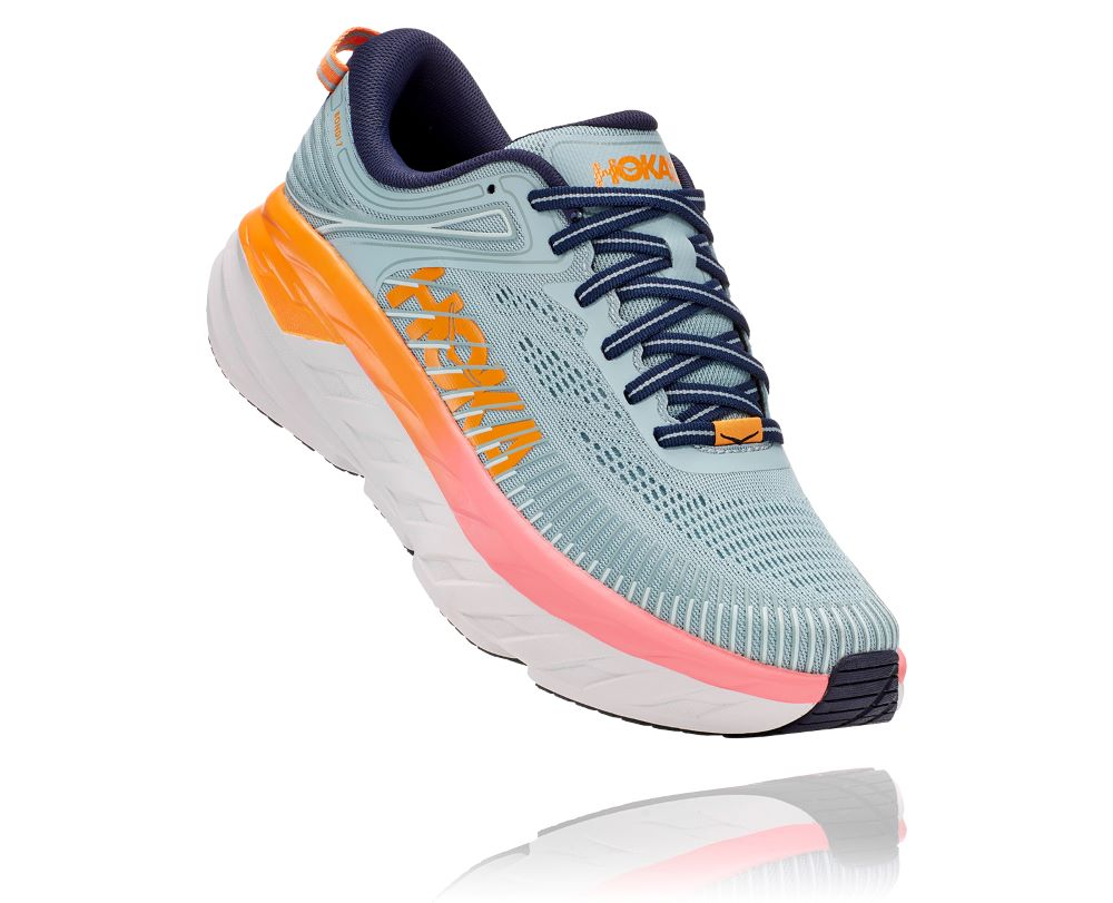 'HOKA' Women's Bondi 7 - Blue Haze / Black Iris