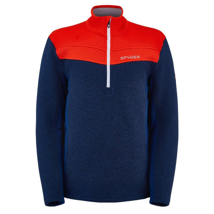 'Spyder' Men's Encore 1/2 Zip Fleece - Abyss / Volcano