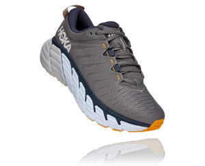 'HOKA' Men's Gaviota 3 - Charcoal Grey / Ombre Blue (Wide)