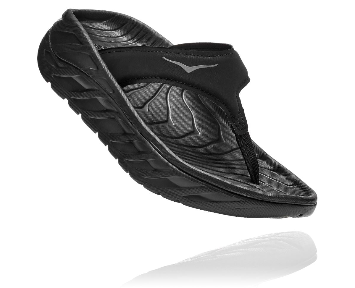 'HOKA' Women's Ora Recovery Flip - Black / Dark Grey