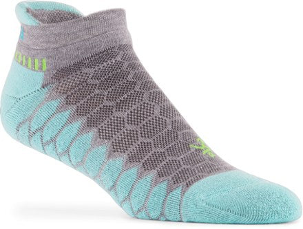 'Balega' Hidden Comfort - Light Aqua / MidGrey