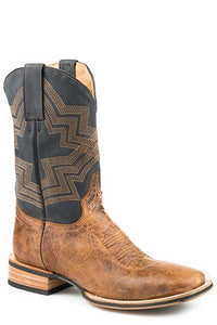"'Stetson' 12-020-8911-1657 - Tru X Impact  *11""  *Square Toe - Waxy Brown / Navy"