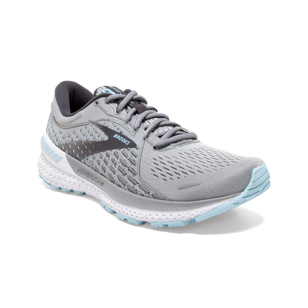'Brooks' Women's Adrenaline GTS 21 - Oyster / Alloy / Light Blue