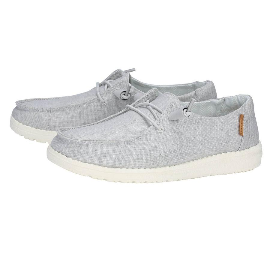 'Hey Dude' Women's Wendy Linen - Chambray Lt. Grey
