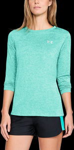 'Under Armour' 1307486 349 - Tech Twist LS Crew Shirt - Green Malachite