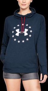 'Under Armour' 1327467 408 - Freedom Funnel Neck LS Top - Academy / Summit White