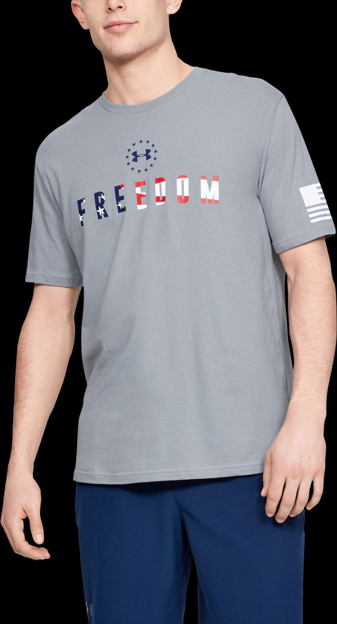 'Under Armour' 1333354 035 - Freedom Chest SS T-Shirt - Steel