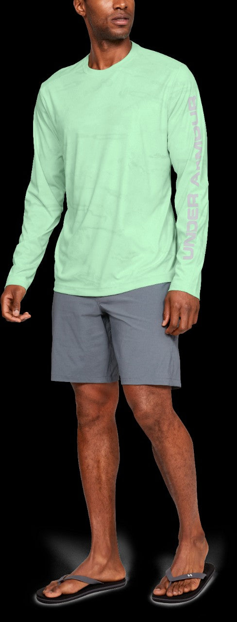 'Under Armour' 1341816 335 – Iso-Chill Shore Break Camo Crew - Aqua Foam