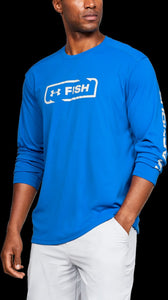 'Under Armour' 1344119 484 - Iso-Chill Shore Break Crew - Blue Strike