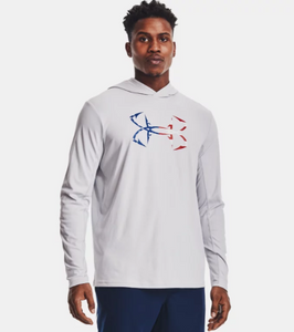 'Under Armour' Men's Iso-Chill Freedom Hook Hoodie - Halo Gray / White