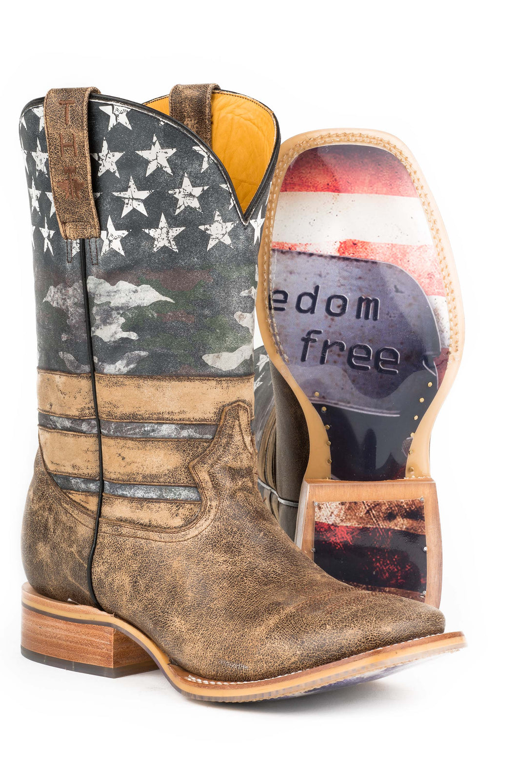 Guy's Freedom American Flag Patriot - Tan / Blue / White