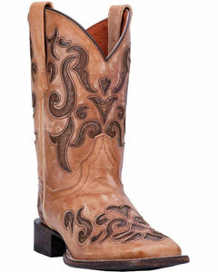 "'Dan Post' Women's 10"" Vanna Western Square Toe - Dark Brown"