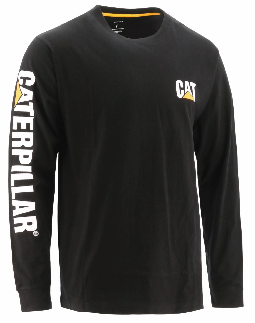 'Caterpillar' Men's Trademark Banner Tee - Black