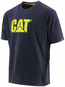'Caterpillar' Men's Trademark Logo Tee - Navy