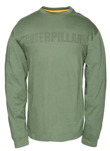 'Caterpillar' Men's UPF Defender Tee - Vineyard Green