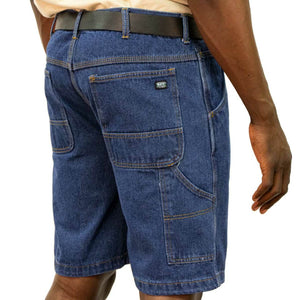 'KEY' Men's Comfort Denim Dungaree Short - Enzyme Washed