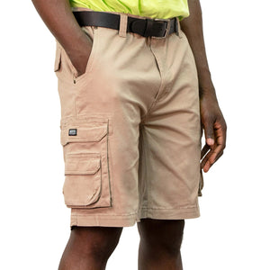 'KEY' Men's Cargo Pocket Flex Short - Khaki