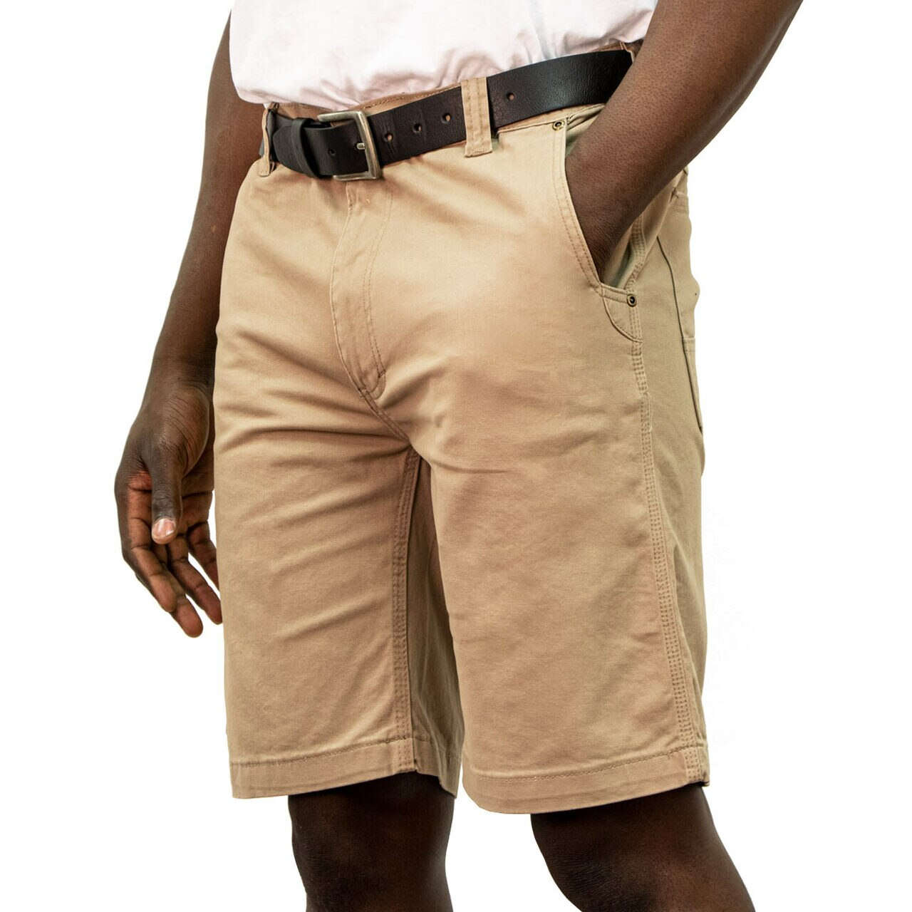 'KEY' Men's Flex Foreman Short - Khaki