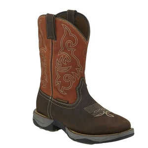 'Tony Lama' Men's Junction WP Steel Toe - Ruby Red / Chocolate Buff