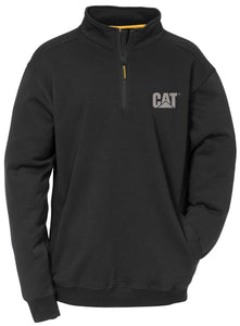 'Caterpillar' Men's Canyon 1/4 Zip Sweatshirt - Black
