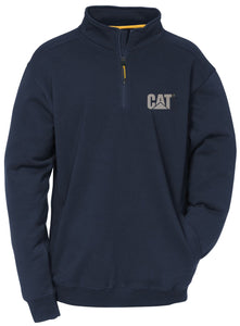 'Caterpillar' Men's Canyon 1/4 Zip Sweatshirt - Navy